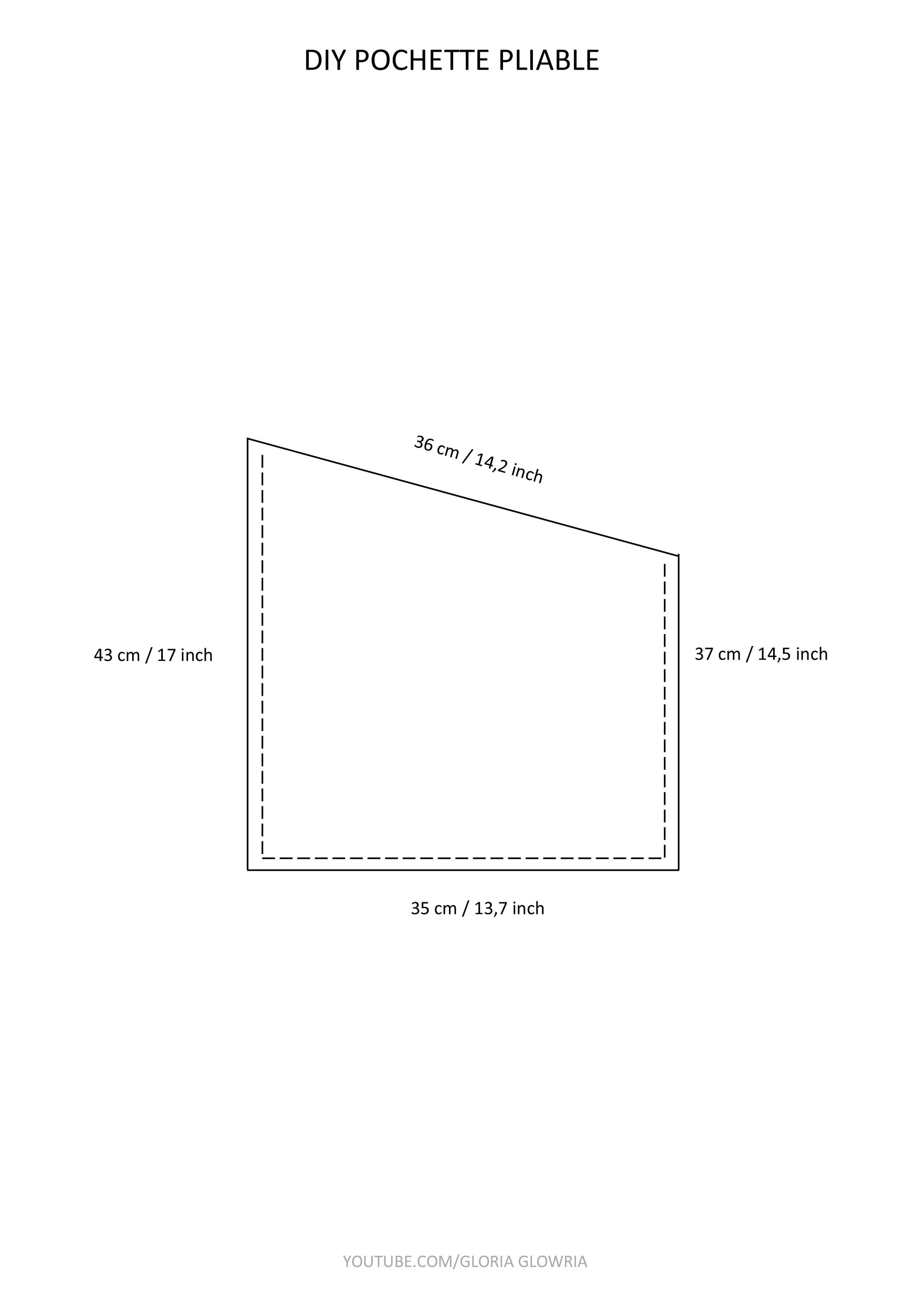 Dimensions Pochette Pliable