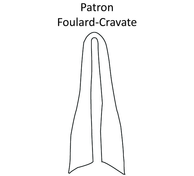 Patron Foulard-Cravate DIY